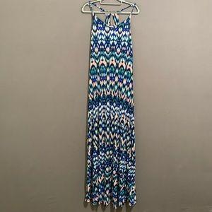 Cynthia Rowley racerback tribal print maxi dress